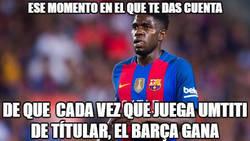 Enlace a Brutal dato de Umtiti con el Barça