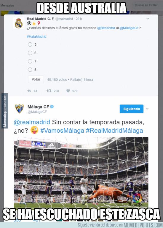 941495 - Desde Australia se ha escuchado el zasca del Málaga al Real Madrid