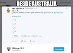 Enlace a Desde Australia se ha escuchado el zasca del Málaga al Real Madrid