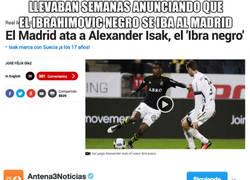 Enlace a Ridículo total lo de MARCA con Alexander Isak, el 'Ibrahimovic negro'