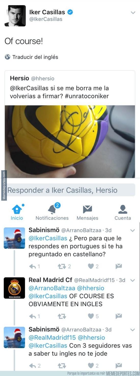 942156 - Recrimina a Casillas por contestar así pero solo deja en evidencia su nivel de inglés
