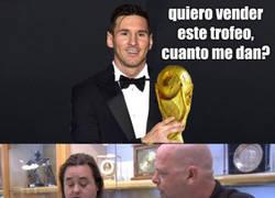 Enlace a Messi en la casa de empeños