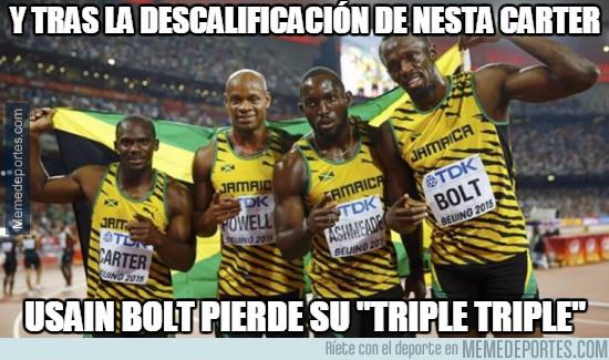 942408 - ÚLTIMA HORA: Usain Bolt se queda sin un oro olímpico