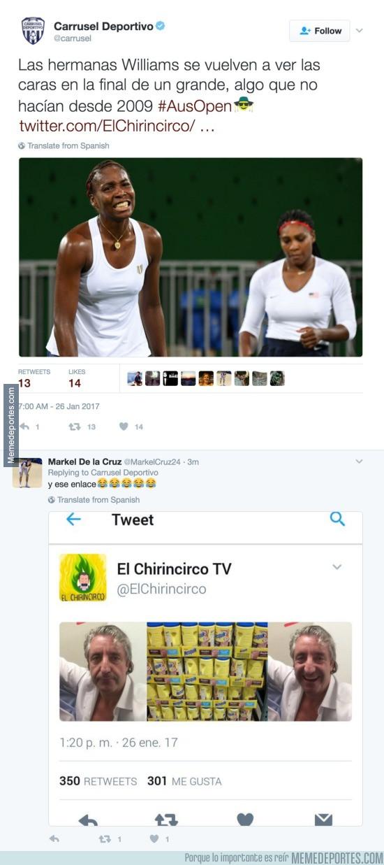 942997 - El Carrusel Deportivo sube un tweet con un enlace riéndose de Pedrerol, nesquik y la coca