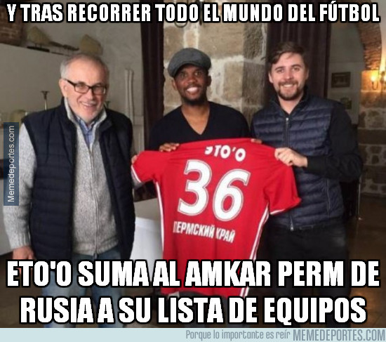943031 - Eto'o sigue de tour mundial