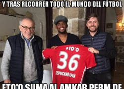 Enlace a Eto'o sigue de tour mundial