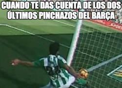 Enlace a El Barça tiene motivos para quejarse...