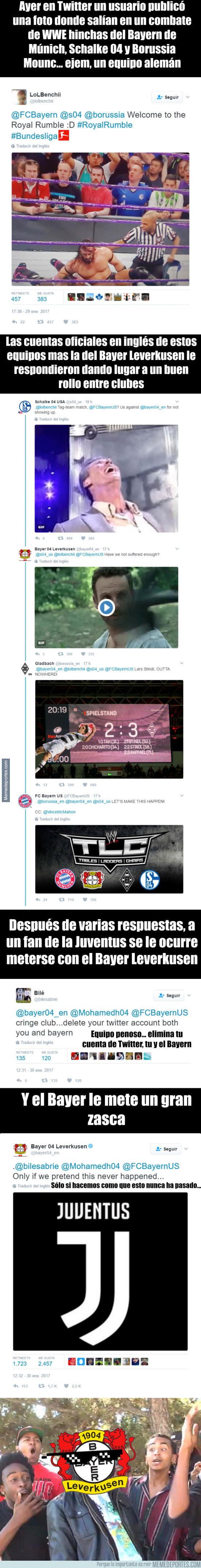 944356 - El tremendo zasca del Bayer Leverkusen a un fan de la Juventus muy bocazas