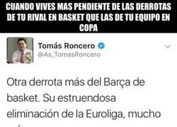 Enlace a En vista del que el Madrid no juega Copa, a ver Basket ¿verdad Tomás?