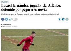 Enlace a Detienen al atlético Lucas Hernández por violencia, y salen a la luz estos lamentables tweets suyos