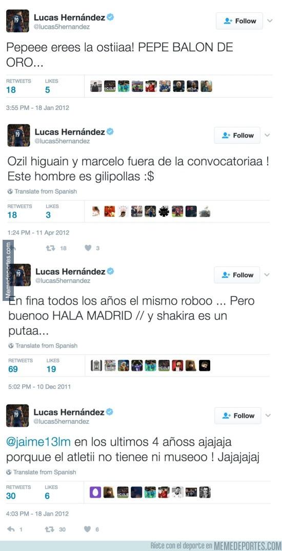 944993 - Los tweets que demuestran que el atlético Lucas Hernández es merengue y anti-atlético