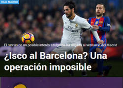Enlace a ¿Isco al Barça?