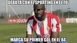 Enlace a Pese a la derrota, gran debut de Traoré con el Sporting