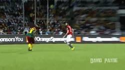 Enlace a GIF: Gracias a este gol de Aboubakar, Camerún se corona Campeón de África