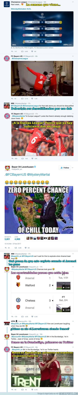946062 - Bayern de Munich y Bayer Leverkusen destrozan a un fan del ManUnited en Twitter