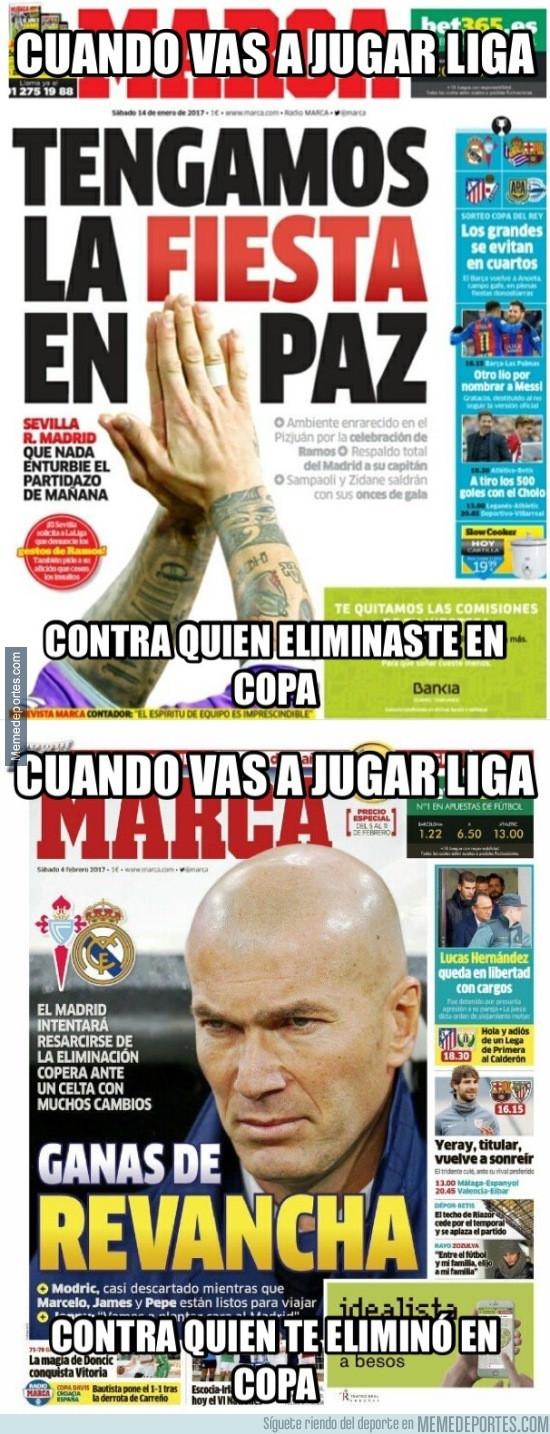 946445 - Las diferentes portadas de Marca si el Real Madrid pasa de ronda o queda eliminado