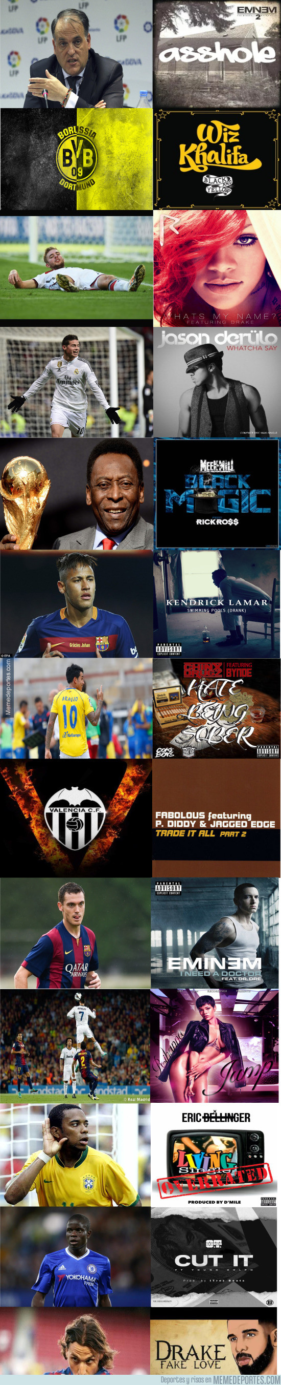 946747 - Cada futbolista/objeto tiene una canción que le va como anillo al dedo (Rap, Hip Hop y R&B version)