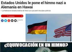 Enlace a Estados Unidos pone el himno Nazi
