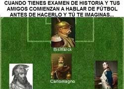 Enlace a Hablar de fútbol antes de hacer un examen de Historia