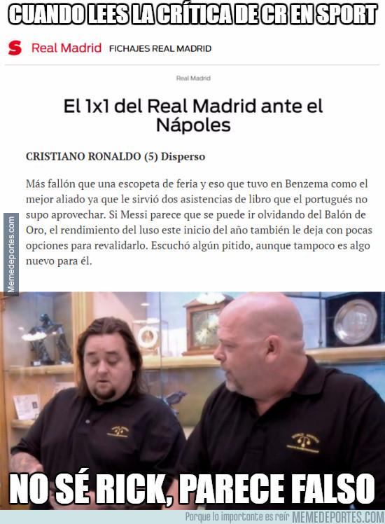 948935 - El 1x1 de Cristiano Ronaldo en el Sport es de risa