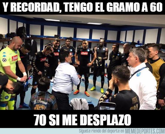 949036 - Maradona y sus consejos antes del Real Madrid-Nápoles