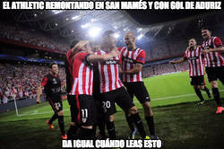 Enlace a El Athletic remontando en San Mamés y con gol de Aduriz