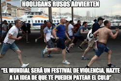 Enlace a Los hooligans rusos advierten