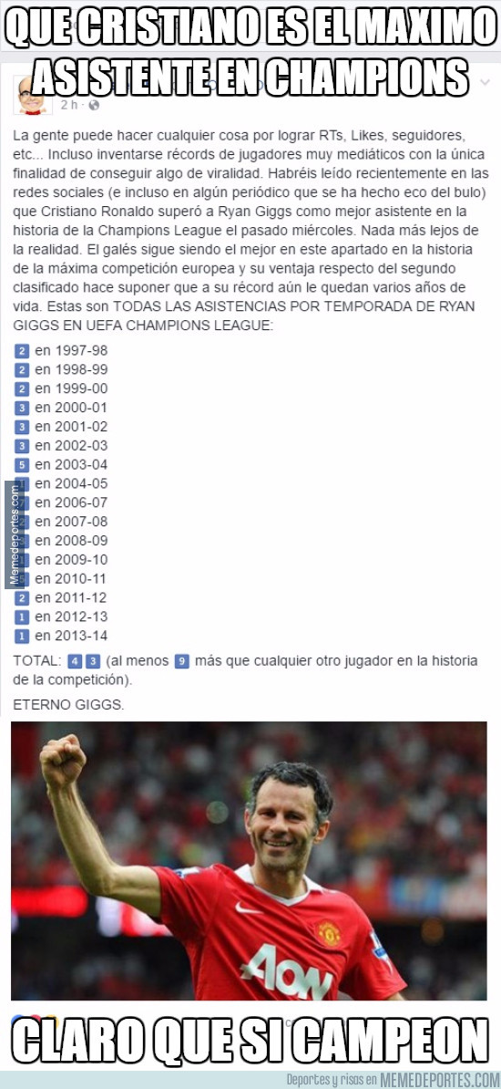 949320 - ¿Que Cristiano es el máximo asistente en la Champions League?