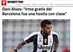 Enlace a Dani Alves aprovecha para disparar contra el Barça
