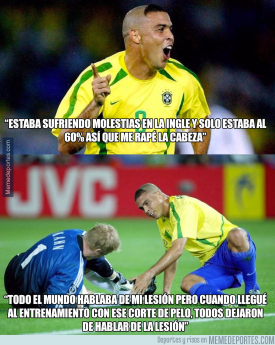 949959 - Ronaldo revela el motivo de su espeluznante corte de pelo en el Mundial 2002