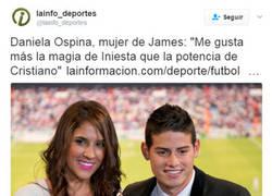 Enlace a La mujer de James complica la estancia en el Madrid de su marido