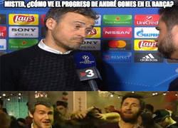 Enlace a Luis Enrique nos habla sobre André Gomes