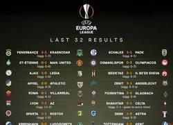 Enlace a RESULTADOS FINALES de los dieciseisavos de la UEFA Europa League. Varias sorpresas...