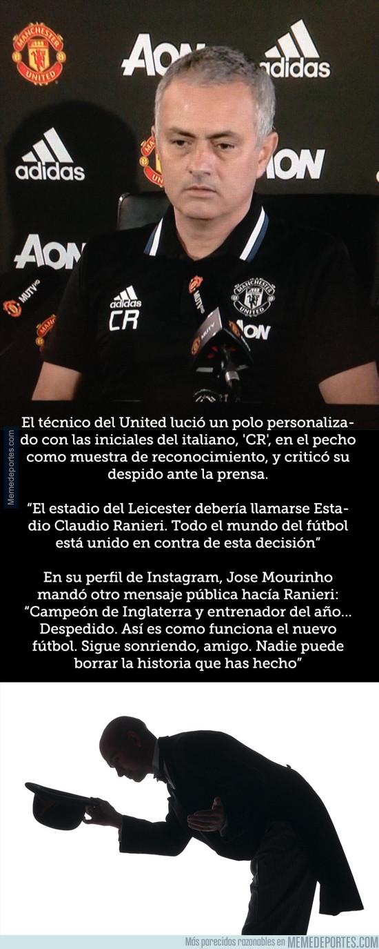 950976 - El gran gesto de Mourinho con Claudio Ranieri tras ser despedido del Leicester