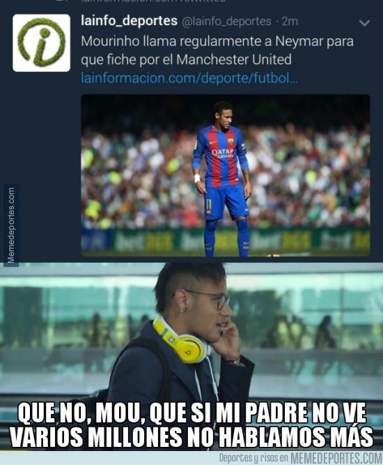 951145 - Mou tiene que contar con el padre de Neymar