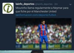 Enlace a Mou tiene que contar con el padre de Neymar