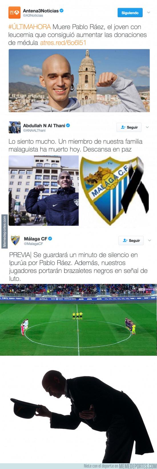 951275 - Muere Pablo Ráez, el joven con leucemia y el Málaga tiene un detallazo en su memoria