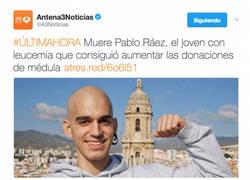 Enlace a Muere Pablo Ráez, el joven con leucemia y el Málaga tiene un detallazo en su memoria