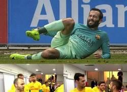 Enlace a Aleix Vidal presente en la memoria de los compañeros del Barça