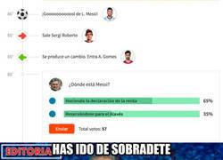 Enlace a Retratado en pocos minutos con el gol de Messi
