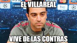 Enlace a Xavi viendo el estilo de juego del Villarreal