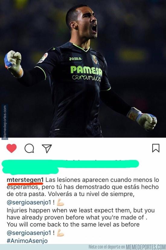 952117 - Ter Stegen se luce en Instagram con Asenjo, deportividad antes que rivalidad