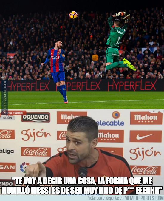 952635 - Pichu Cuéllar está enfadado tras el gol de Messi