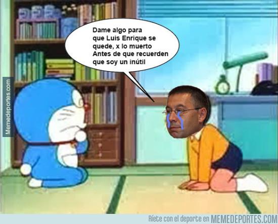952895 - Bartomeu suplicando a Doraemon tras el comunicado de Luis Enrique