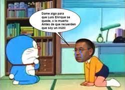 Enlace a Bartomeu suplicando a Doraemon tras el comunicado de Luis Enrique