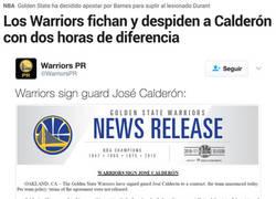 Enlace a Calderón ficha por los Warriors ¡y lo despiden a las dos horas!