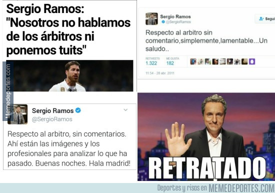 953199 - El tuit de Ramos en 2011 que le deja retratadísimo