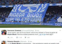 Enlace a Vergonzosa la actuación de los Riazor Blues, enorme el resto del estadio
