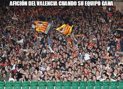 Enlace a La afición del Valencia según sople el viento...