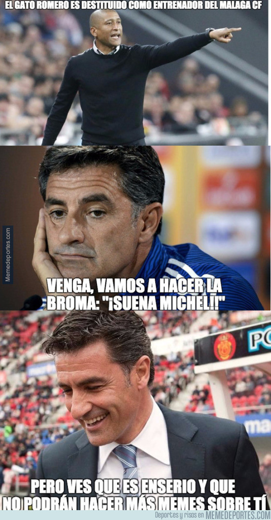 954406 - Michel, nuevo entrenador del Malaga CF, se acabó la broma
